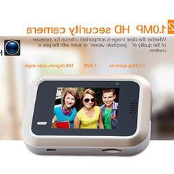 Yvonne 2.4-inch HD LCD Digital Peephole Door Viewer Camera,