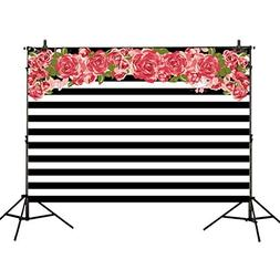 Allenjoy 7x5ft photography backdrops Black and white stripe