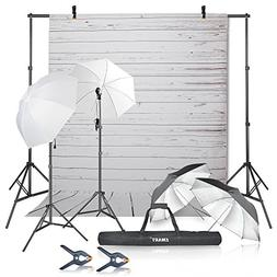 Emart Photography Umbrellas Continuous Lighting Kit, 400W 55