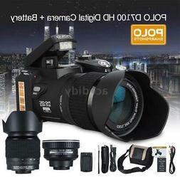 "D7100 33MP Digital DSLR Camera 3.0"" LCD 1080P 30fps FHD 24X"