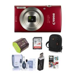 Canon PowerShot ELPH 180 20MP Digital Camera, 8x Optical Zoo
