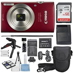 Canon PowerShot ELPH 180 Digital Camera  + 32GB SDHC Memory