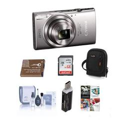 Canon PowerShot ELPH 360 HS 20.2MP Digital Camera, Silver -