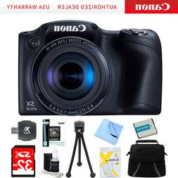 Canon Powershot SX410 IS Black Digital Camera Ex Battery 32G