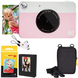 Kodak Printomatic Instant Camera  Deluxe Bundle + Zink Paper