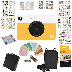 Kodak Printomatic Instant Camera Gift Bundle + Zink Paper  +