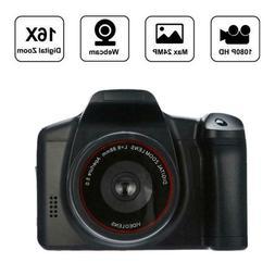 """Professional Digital Camera w/3""""Display 16MP 1080P 16X Zoom"""