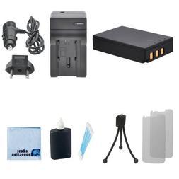 PS‑BLS1 Li-ion Battery For Olympus Evolt SLR + Car/Home Ch