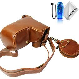 First2savvv PU leather digital camera case bag cover with sh
