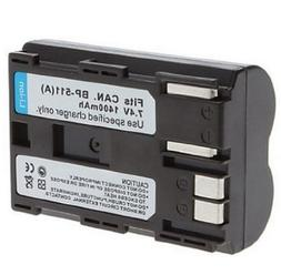 Rechargeable Li-ion Battery Pack for Canon BP-511, BP-511A a
