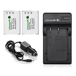 Powerextra 2 x NP-95 Battery and Charger with Car Charger Co
