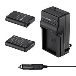 Powerextra 2 x EN-EL23 Battery & Quick Charger Compatible wi