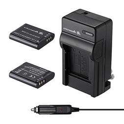 Powerextra 2 Pack Replacement Battery and Charger Compatible