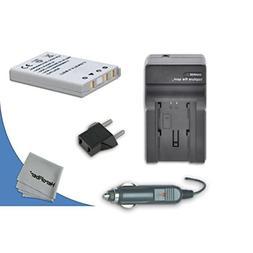 High Capacity Replacement Nikon EN-EL5 Battery with AC/DC Qu