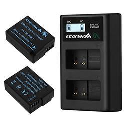 Powerextra 2 Pack Replacement Panasonic DMW-BLC12 Battery an
