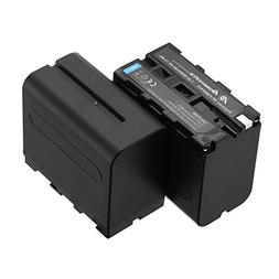 Powerextra 2 Pack Replacement Sony NP-F970 Battery 8800mAh f