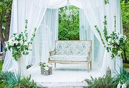 Baocicco Romantic wedding Sheds Summer Garden Backdrop 6.5x5
