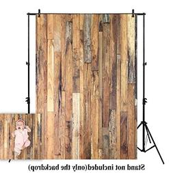 Allenjoy 5x7ft Rustic Wood Floor Backdrop Children Baby Phot