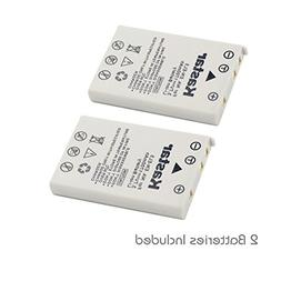 Kastar 2 Pack EN-EL5 Rechargeable Li-ion Battery for Nikon C