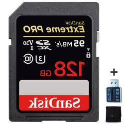 SanDisk Extreme PRO 128GB SD Memory Card + Xtech Starter Kit