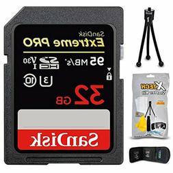 SanDisk Extreme PRO 32GB SD Memory Card + Xtech Starter Kit