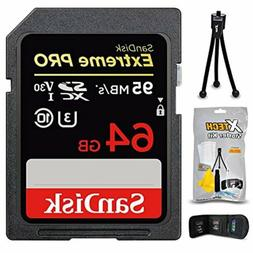 SanDisk Extreme PRO 64GB SD Memory Card + Xtech Starter Kit