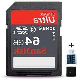 SanDisk 64GB Ultra Class 10 SDXC UHS-I Memory Card + Card Re