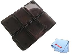 SD Memory Card Holder for 6 Cards, 6 Slots and a Microfiber