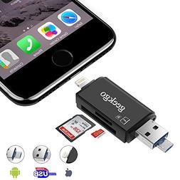 Geekgo SD Card Reader,Micro SD USB Memory Card Reader Adapte
