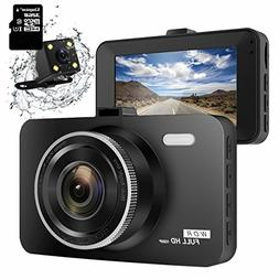 "ULU SD10 Dash Cam 3.0"" FHD 1080P Dual Channel Front and Rear"