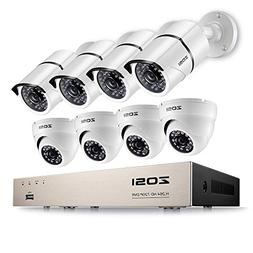 ZOSI 1080P Security Camera System 8 Channel HD-TVI Video Rec