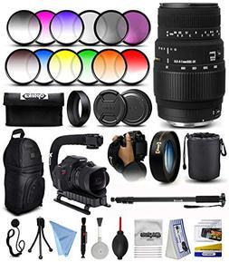 Sigma 70-300mm f/4-5.6 DG Macro Telephoto Zoom Lens with 10x
