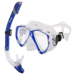 Ivation Snorkel Mask Set - Adult Snorkeling Gear - Double Le