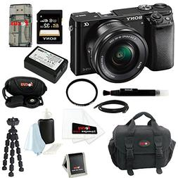 Sony Alpha a6000 Mirrorless Camera with 16-50mm Lens and Gad