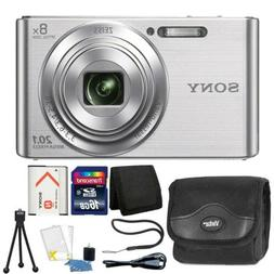 Sony DSC-W830 20.1MP Point and Shoot Digital Camera Silver +