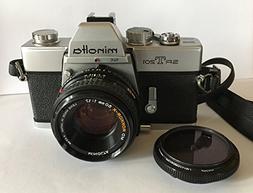 Minolta SRT-201 Manual Focus SLR Film Camera and a 50mm Lens