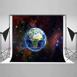 EARVO 7x5Ft Starry Nebula Backdrops Earth Shining Stars Phot