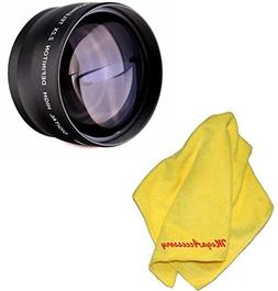 MegaAccessory 52mm 2.2x Telephoto Lens with Macro for NIKON