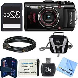 TG-4 16MP 1080p HD Waterproof Digital Camera Black 32GB Memo