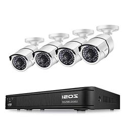 ZOSI 1080P HD-TVI Security Camera System,4-in-1 DVR Recorder