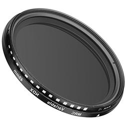 Neewer 49MM Ultra Slim ND2-ND400 Fader Neutral Density Adjus