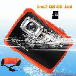 Underwater Camera for Kids, CrazyFire 12MP HD Waterproof Dig