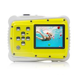 Underwater Camera Kids Digital Camera IP68 Waterproof Shatte