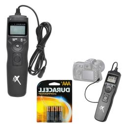 Universal LCD Shutter Release Timer Remote Control + 4 AAA b