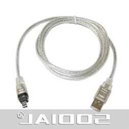 SODIAL USB 2.0 to IEEE 1394 Firewire 4 Pin 4 feet Extension