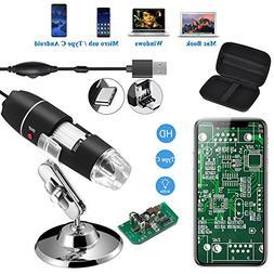Jiusion Original 40-1000X USB Microscope with Portable Carry
