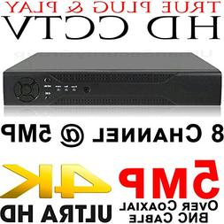 USG Business Grade 5MP 8 Channel AHD Security DVR : Up To 5M