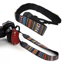 SODIAL Vintage Camera Shoulder Strap Neck Straps For DSLR Ni