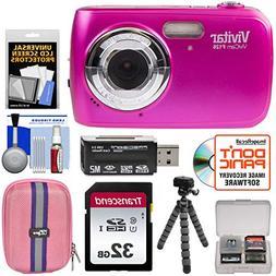 Vivitar ViviCam F126 Digital Camera  with 32GB Card + Case +