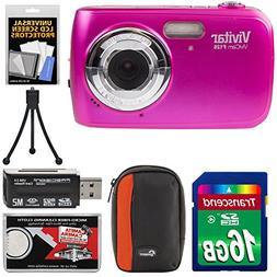 Vivitar ViviCam F126 Digital Camera  with 16GB Card + Case +